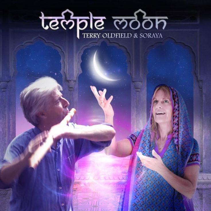 """The new album release from Terry Oldfield & Soraya """"Temple Moon"""" now available on Amazon"""