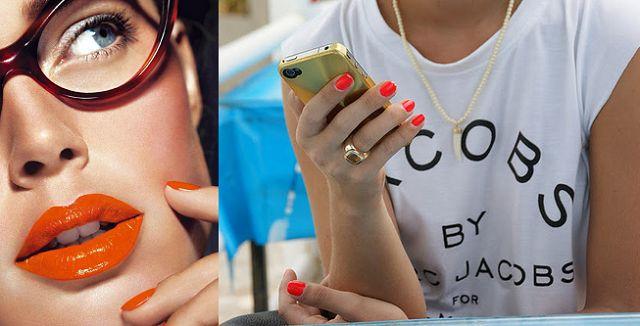 Nagel trends zomer 2014 oranje nagels koningsdag wk lippen rend nagellak koraal