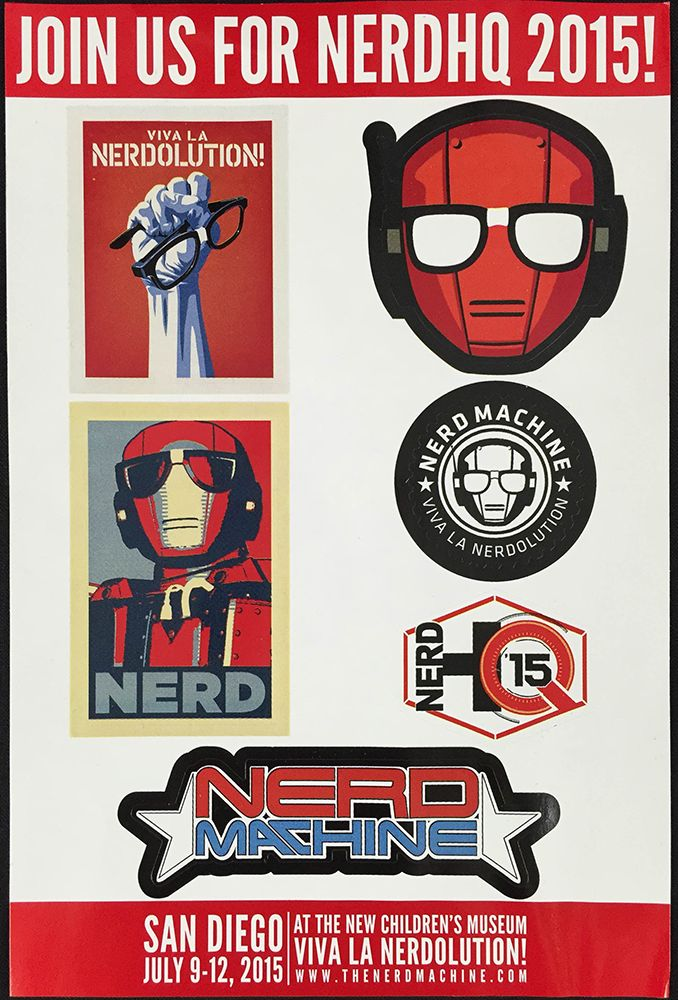 NerdHQ Stickers Inside Loot Crate