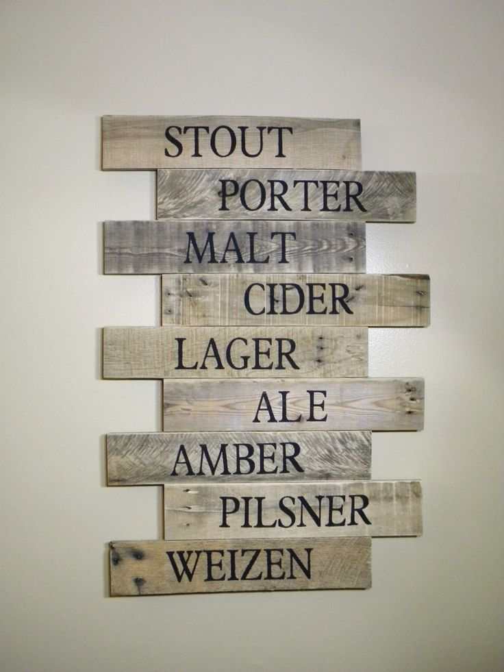 Reclaimed Wood, Pub Sign, Brewery Art, Craft Beer, Wood Wall Hanging, Bar Sign, Wood Signs, Wood Wall Art, Wall Decor, Rustic, Beach Sign