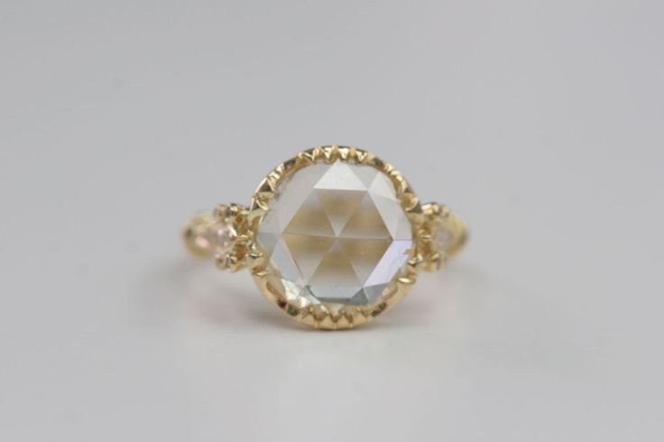 Spectacular Rose Cut Diamond Ring | From a unique collection of vintage engagement rings at http://www.1stdibs.com/jewelry/rings/engagement-rings/
