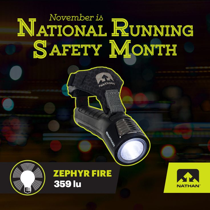 #Be Seen :: @nathansportsinc  Sponsors National Running Safety Month