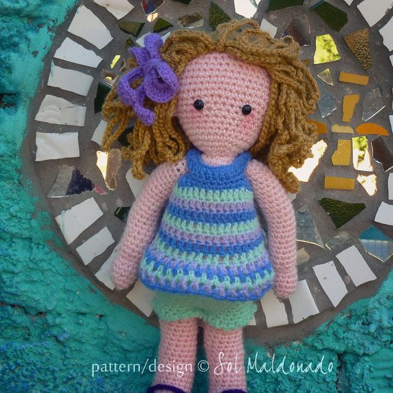 Doll Crochet Pattern Sara & Kate best friends Girls PDF instant DOWNLOAD