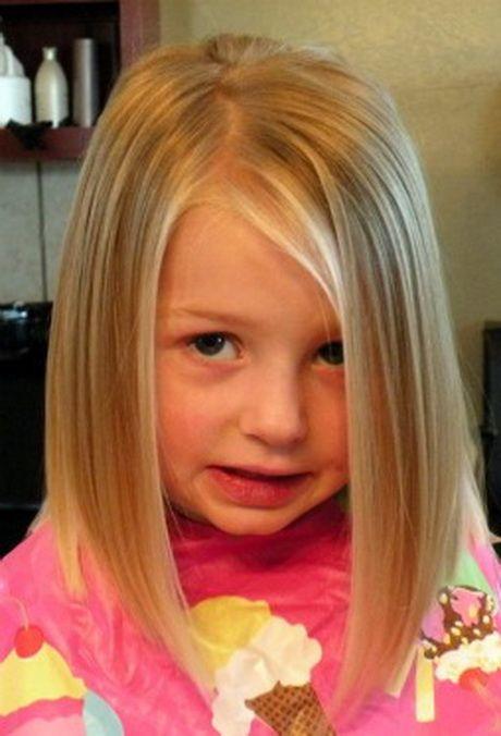 Little Girl Medium Haircuts | Girls Medium Length Bob Haircut Front View
