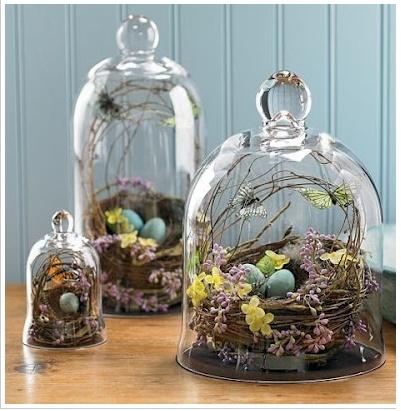 glass cloches.  so pretty.