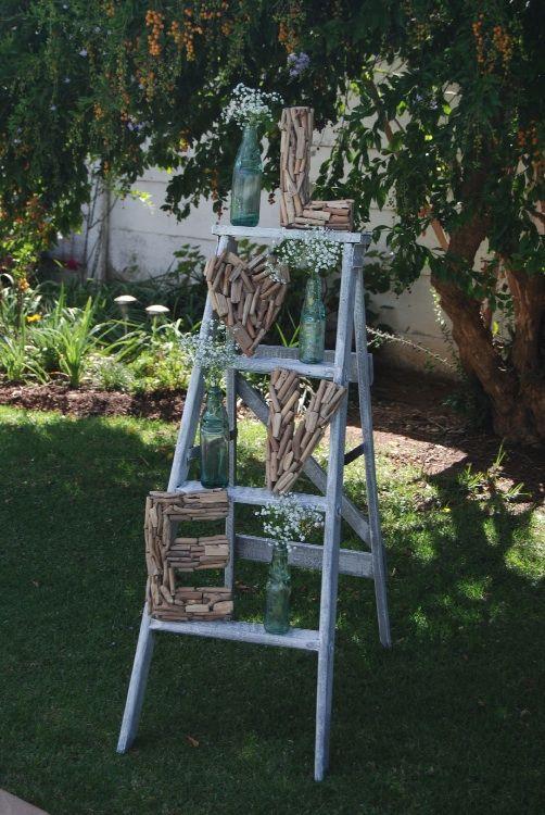 Wooden Ladder 'LOVE' Decor