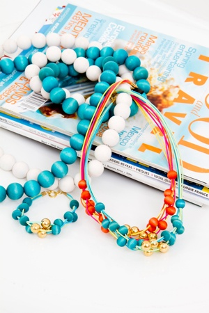 orange, white and turquoise by Aarikka