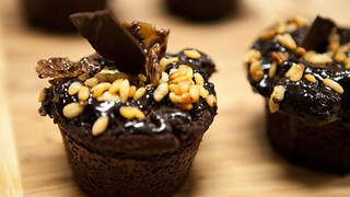 Chocolate cupcakes with chocolate-coconut ganache recipe : SBS Food