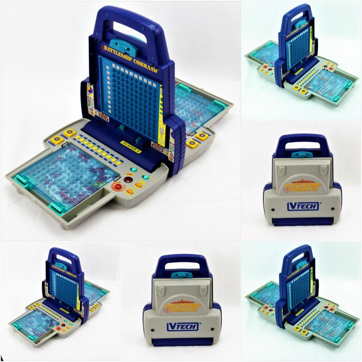 1990's Vintage Retro Talking Electronic Battleship Command Game with manual ship