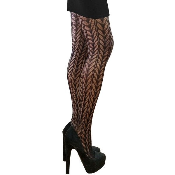 V1969 Women's Openwork Tights ($18) ❤ liked on Polyvore featuring intimates, hosiery, tights, black, fishnet hosiery, fishnet stockings, fishnet tights and fishnet pantyhose