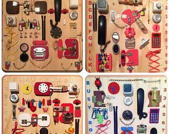 Busy Board Sensory board gift toddler Activity Board