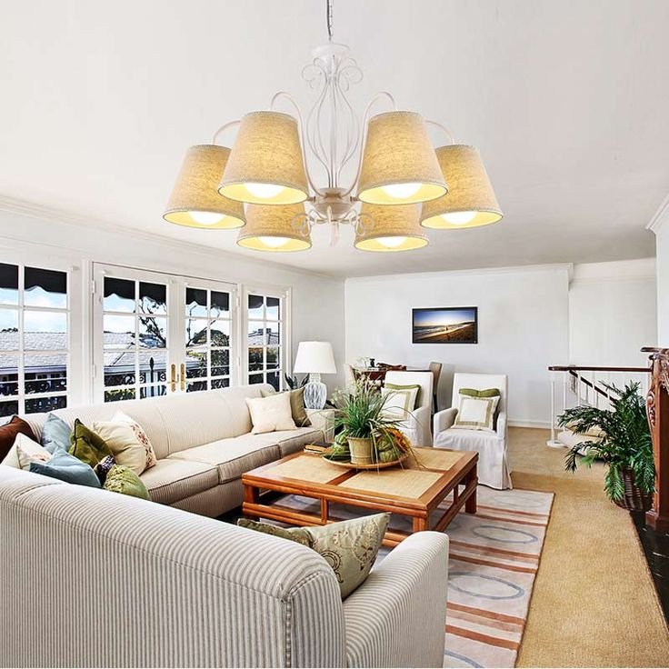 Современные E14 светодиодные лампы кухня гостиная люстра светильники черный, белый цвет кованого железа ткани абажур дома блеск 110 240 В купить на AliExpress