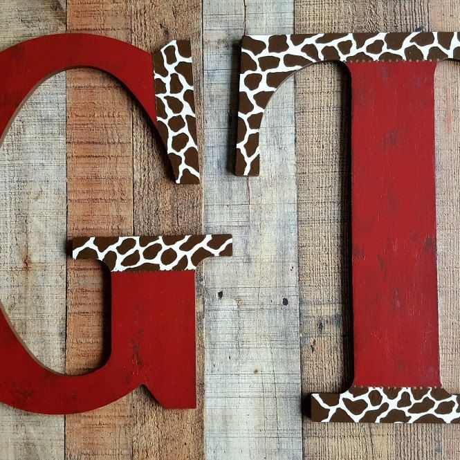 Big 18 inch wall letters for any room in your home...beautiful rustic, farmhouse style decor! HappyMooseGardenArt.Etsy.com