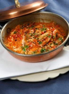 Recipe for Saganaki Shrimp (baked with feta cheese in tomato sauce ...