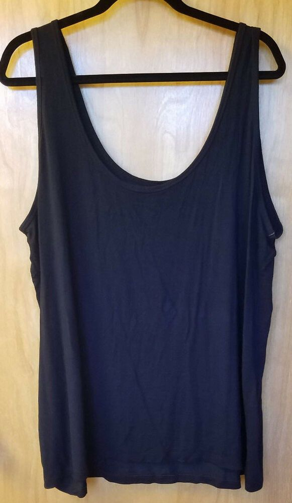 aab40da90c125 Lane Bryant Essential Camisole Black Tank Cami Plus Size 26 28 Great  Condition!