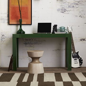 Parsons Desk with Drawers - Spruce Green #WestElm