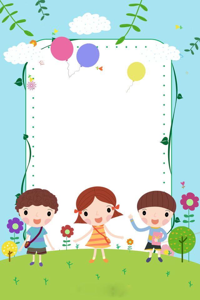 61 Children S Day Background Picture Kids Background Photo Frames For Kids Rainbow Cartoon