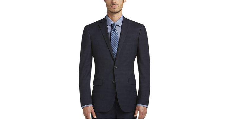 Check this out! Awearness Kenneth Cole Navy Check Extreme Slim Fit Suit - Extreme Slim Fit from MensWearhouse. #MensWearhouse