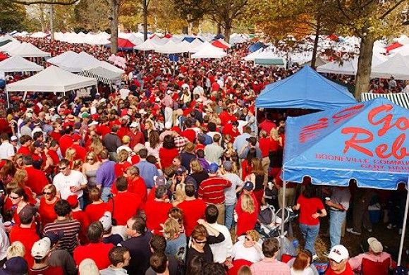Grove at Ole Miss.. Nothing better than tailgating in Oxford.