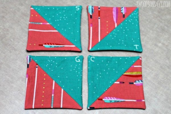 Easy Fabric Coasters von Swoodson Says   – Products I Love
