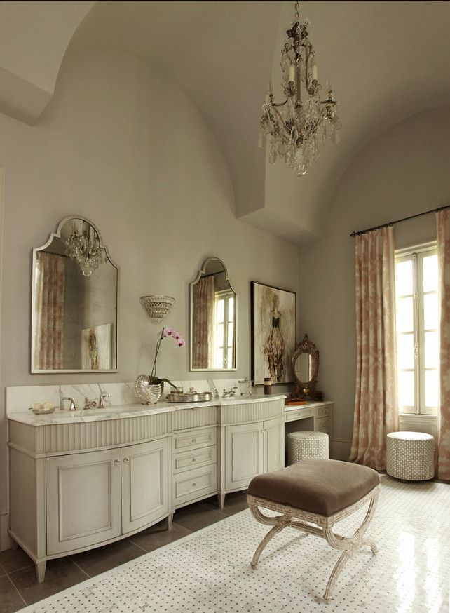 Classic French Bathroom Love The Soft Wall The Color On The Vanity But