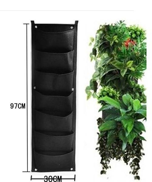 Beautiful Vertical Garden Ideas: 7 Pocket Outdoor Vertical Living Wall Planter
