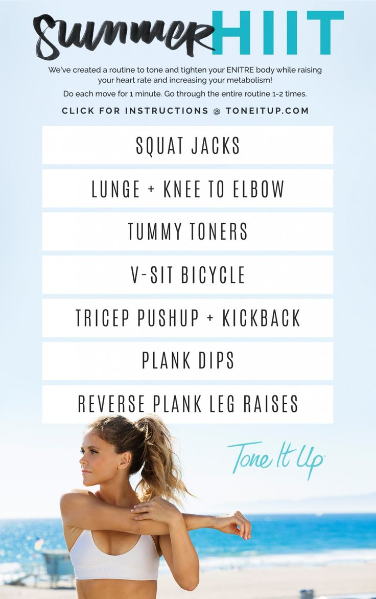 Tone It Up Summer HIIT Routine