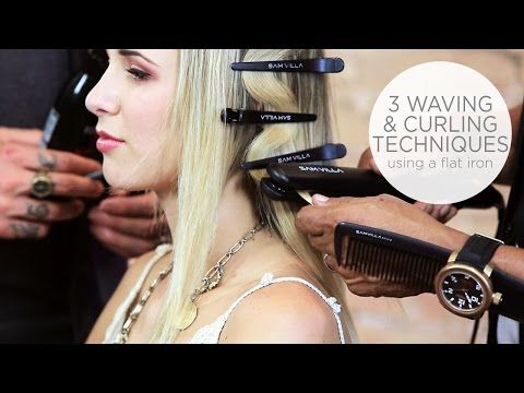 Flat Iron Tricks: How To Create a Flat Wave | How To Create Loose Waves - YouTube
