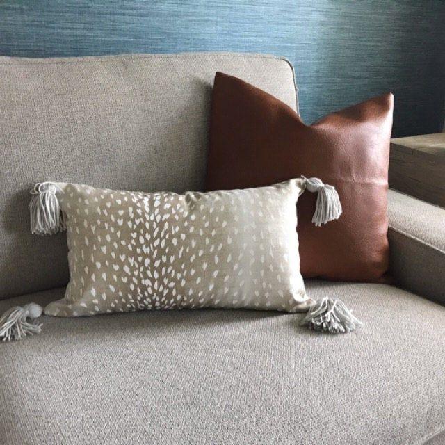 20x20 Metallic Tassel Pillow   Pillows