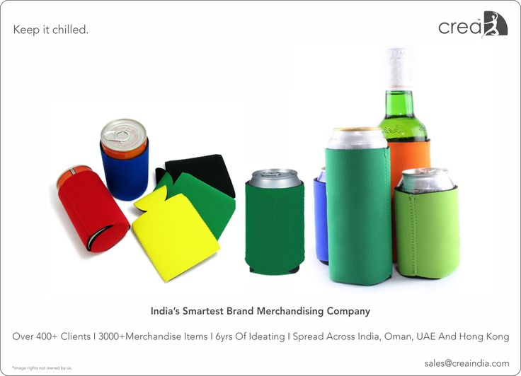 Can Cooler from Crea. India's smartest brand merchandising company.