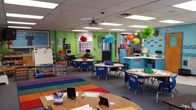 See this Kindergarten Ocean Themed Classroom's Layout and Decor