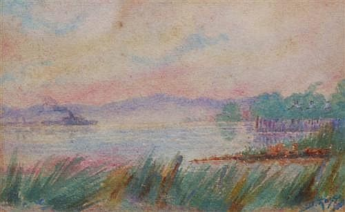 Daisy Rossi - Steamer, at Sunset 16 x 22cm
