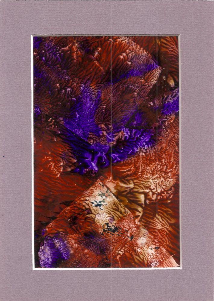 Jungle Print Animal Abstract Acrylic 4x6 Original Painting Art Penny Lee StewArt #ContemporaryArt