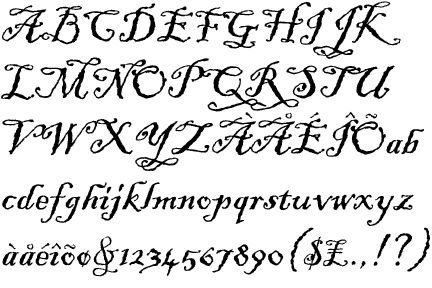 Blackadder ITC. Based on hand-written lettering typical of ...