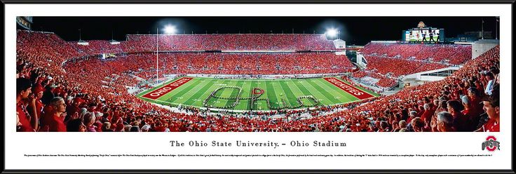 Ohio State Buckeyes Panoramic - Ohio Stadium Picture - Script