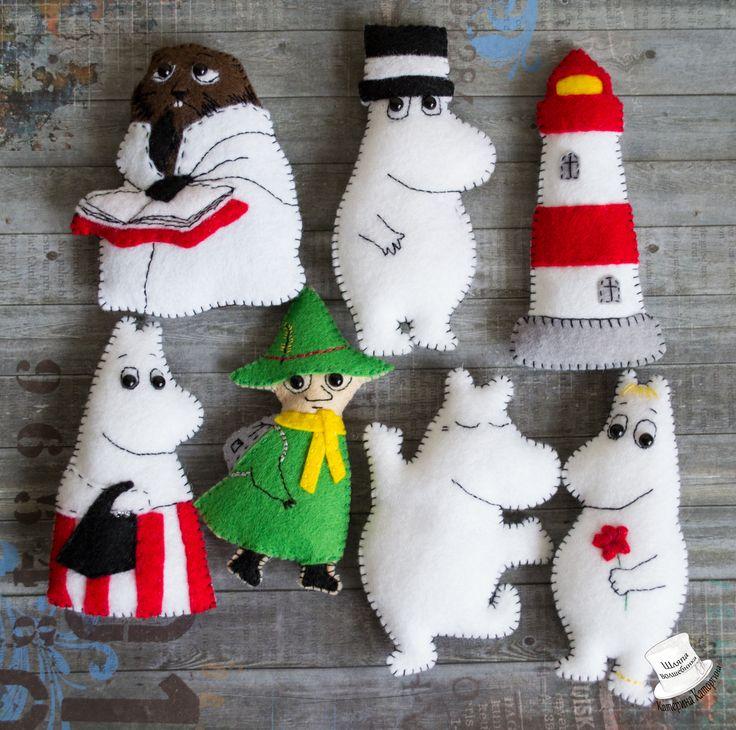 Felt magnets Moomins