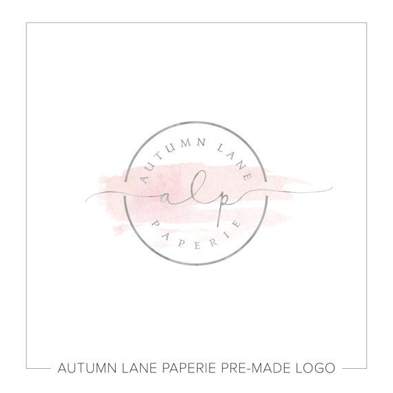Premade Logo Design Watercolor Circle Logo by AutumnLanePaperie