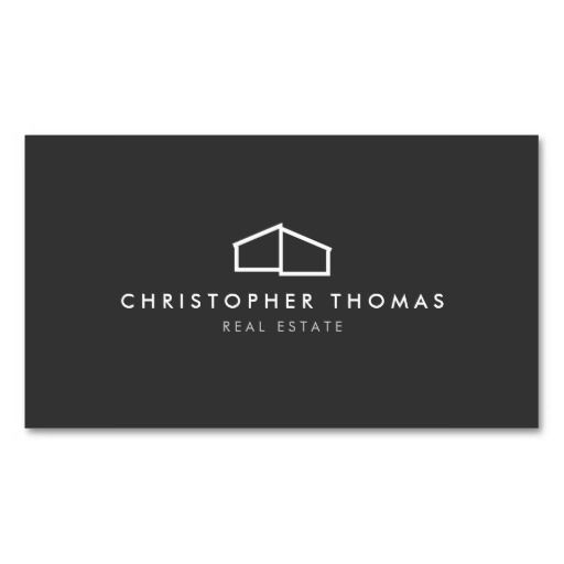 Modern Business Card Template for Real Estate, Realtors, Builders, Construction, Property Management and more - easy to personalize