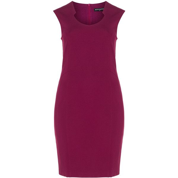 Manon Baptiste Pink Plus Size Shape Collection shift dress (9.965 RUB) ❤ liked on Polyvore featuring dresses, pink, plus size, plus size purple dress, pink jersey, pink plus size dresses, purple dress and plus size jersey dress