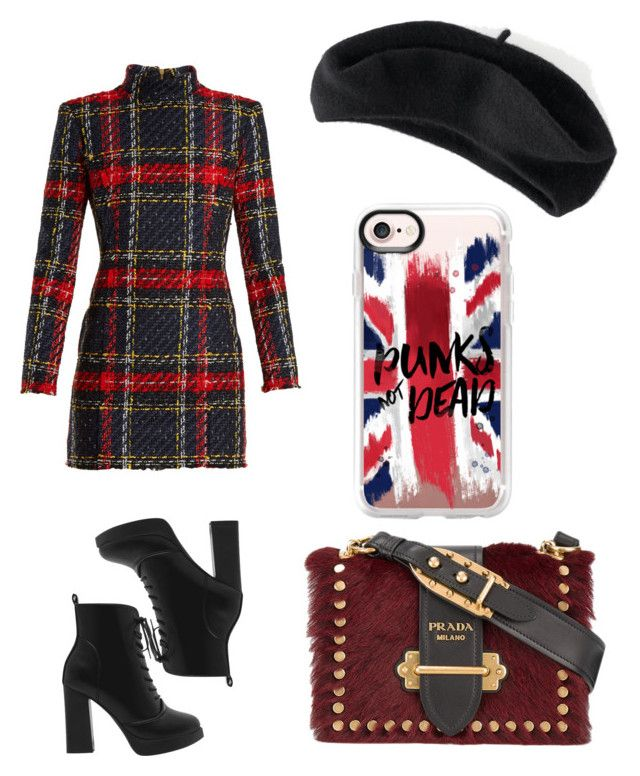 """""""Untitled #727"""" by syshrn on Polyvore featuring Balmain, Apt. 9, Prada and Casetify"""