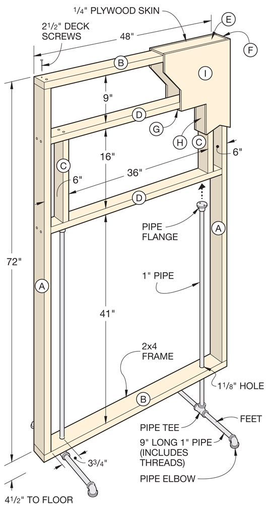 better homes and gardens : freestanding divider wall plans