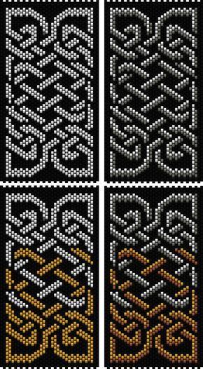 Celtic Knot 4 (peyote stitch) | Bead-Patterns.com