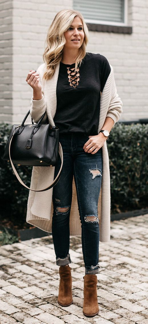 9a03a32aee0 40 Chic and Stylish Fall Outfits Ideas 2018 | Women Style ...