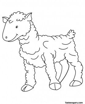 printable farm animal baby sheep coloring page for kids printable coloring pages for kids