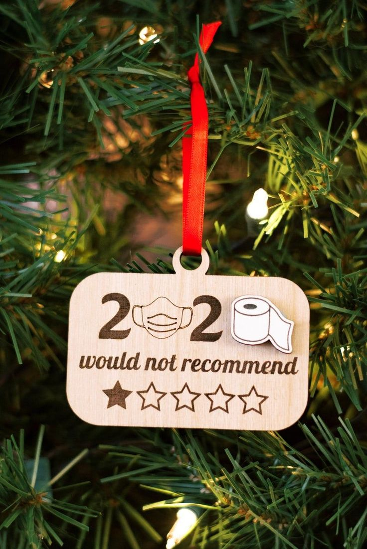 2020 Would Not 2020 Christmas Ornament White