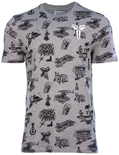 Nike Men's KOBE Wallpaper Graphic Basketball T-Shirt-Heather Grey - http://weheartlakers.com/lakers-shirts/nike-mens-kobe-wallpaper-graphic-basketball-t-shirt-heather-grey