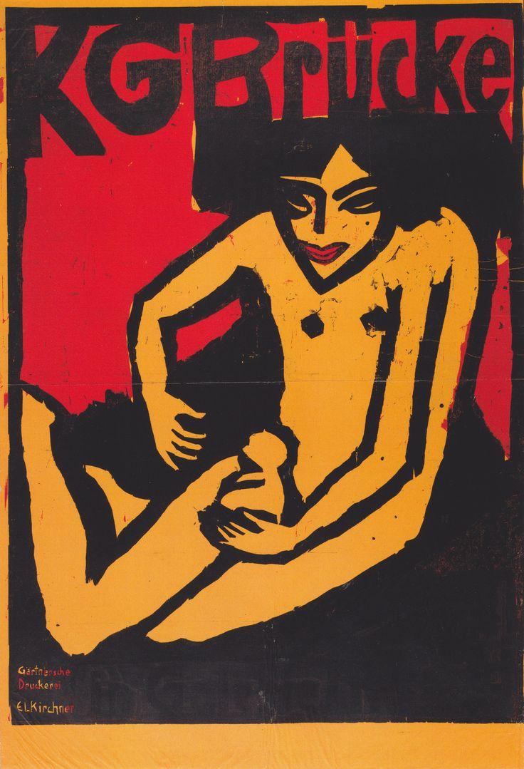 Ernst Ludwig Kirchner, Ausstellungsplakat Der Galerie Arnold In Dresden,  1910