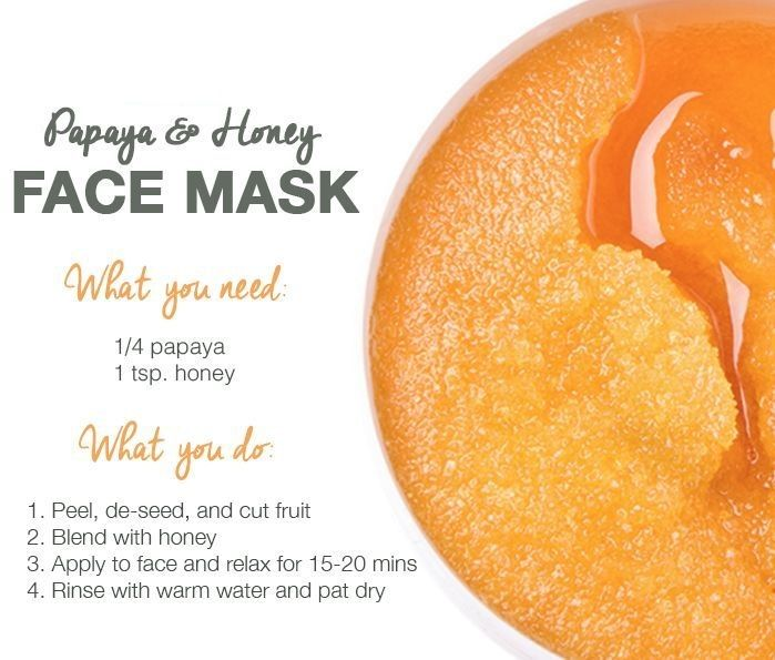 Try this face mask for a clear, glowing, bright skin. #papaya #honey #healthyskinishappiness