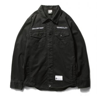 As Always Tranquility Button Down Shirt (Black) #asalways #streetwear #streetfashion #fashion #urbanwear #longsleeves #buttonupshirt