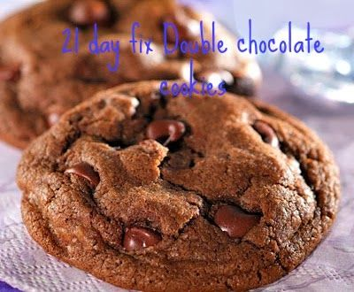 21 day fix double chocolate cookies - these would count as an extra yellow container (the 1 of 3 you get each week)